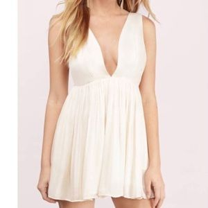 Tobi Cream Skater Dress